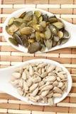 Тыква и семена подсолнуха стоковые изображения rf