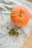 Тыква и семена тыквы Стоковое Изображение