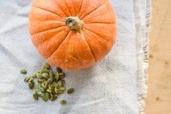 Тыква и семена тыквы Стоковое Фото