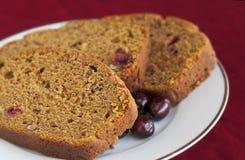 тыква клюквы хлеба Стоковая Фотография RF