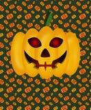 Тыква на хеллоуин на предпосылке текстуры, накаляя глаза, лампа Джек стоковое фото