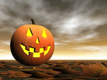 Тыква на хеллоуин - 3D представляют Стоковая Фотография RF