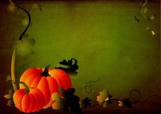 тыква рамки листва grungy Стоковые Изображения RF
