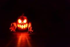 Тыква стороны хеллоуина страшная Стоковые Изображения RF