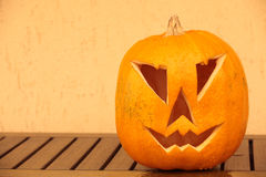 Тыква хеллоуина снятая outdoors Стоковое Изображение RF
