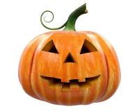 Тыква хеллоуина высекая изолированный Джек-o-фонарик Стоковые Фото