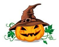 Тыква хеллоуина в жаре Стоковая Фотография