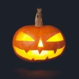 Тыква хеллоуина на темной предпосылке Стоковые Фотографии RF
