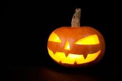 Тыква хеллоуина на темной предпосылке Стоковое фото RF