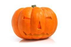 Тыква хеллоуина (Джек-o'-фонарик) Стоковое фото RF