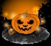 Тыква хеллоуин дьявола Стоковое Изображение