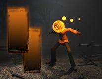 тыква человека halloween характера Стоковое Изображение RF