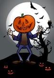 тыква человека halloween иллюстрация вектора