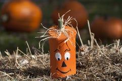тыква halloween головная деревянная Стоковая Фотография