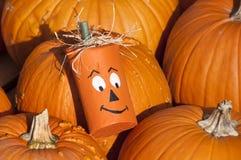 тыква halloween головная деревянная Стоковые Фото