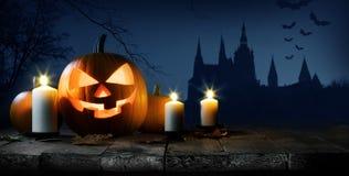 тыква halloween карточки Стоковое фото RF
