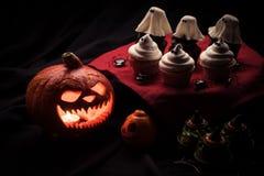 тыква halloween пирожнй Стоковые Изображения RF