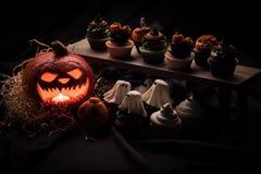 тыква halloween пирожнй Стоковые Фотографии RF