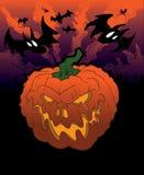 тыква halloween предпосылки Стоковое Изображение