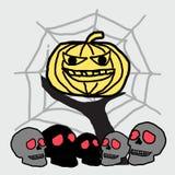 тыква halloween предпосылки Стоковая Фотография RF
