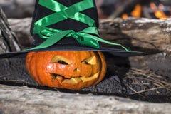 тыква halloween предпосылки Стоковая Фотография