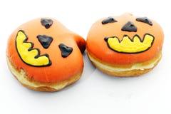 тыква halloween donuts Стоковая Фотография