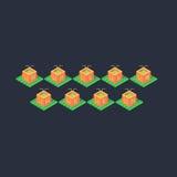 Тыква Isomatric оранжевая хеллоуина Стоковое Фото