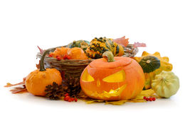 Тыква Jack O'Lantern Halloween Стоковое Фото