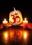 Тыква Om хеллоуина стоковое изображение