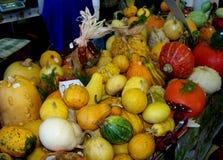 Тыквы в рынке Стоковое Фото
