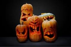 Тыквы Джек-o-фонарика хеллоуина Стоковое фото RF