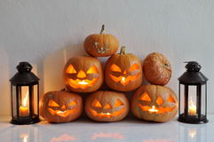 тыквы жизни halloween все еще Стоковые Фотографии RF