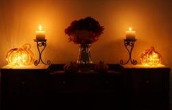 Тыквы и свечи 2 Стоковые Изображения