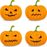 Тыквы на Halloween Стоковое Изображение