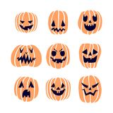 Тыквы хеллоуина установили 2 Стоковое Фото