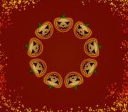 Тыквы хеллоуина в круге Стоковое Фото