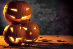 Тыквы хеллоуина Grunge Стоковое фото RF