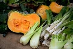 Тыквы, fennels, лук-пореи и брокколи Стоковое Фото