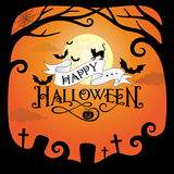 тыквы halloween падения граници Стоковое Изображение RF