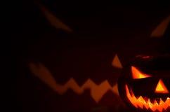 Тыкв-ужас хеллоуина стоковые изображения rf