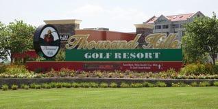 Тысяча курортов гольфа холмов в Branson, Миссури Стоковая Фотография RF