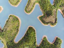 Тысяча озер и голубого пресноводное стоковое изображение rf