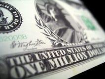 тысячелетие миллион одно долларов счета Стоковое фото RF