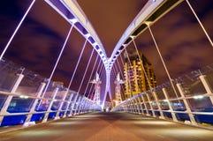 тысячелетие manchester моста Стоковые Изображения RF