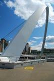 тысячелетие newcastle tyne Великобритания моста Стоковые Фотографии RF