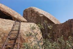 Тысячелетние гигантские камни в природном парке Iona anisette Cunene стоковые изображения rf