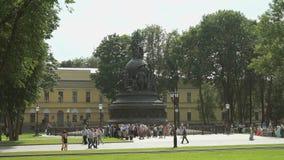 Тысячелетие памятника России в России сток-видео