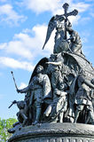 Тысячелетие памятника России в Veliky Новгороде, России Стоковые Изображения