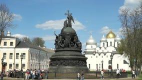 Тысячелетие памятника России в Veliky Новгороде видеоматериал