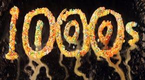 тысячи сотни влажные Стоковое Изображение RF